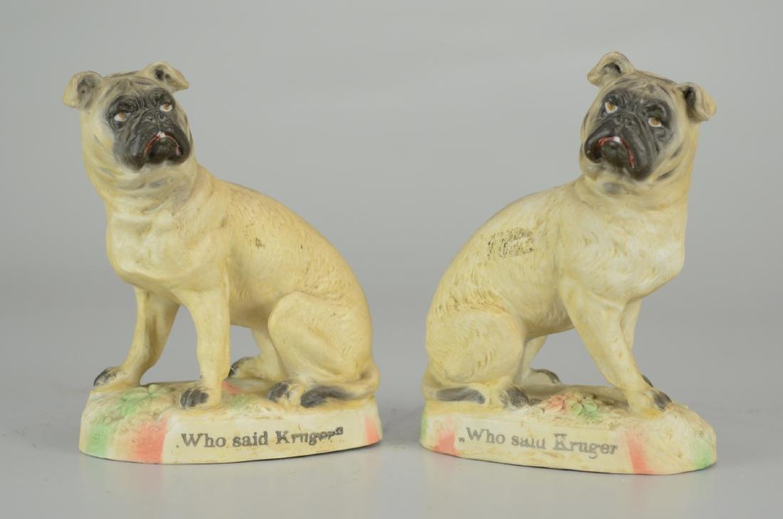 """Pr Boer War """"Who Said Kruger"""" Dog Figurines"""