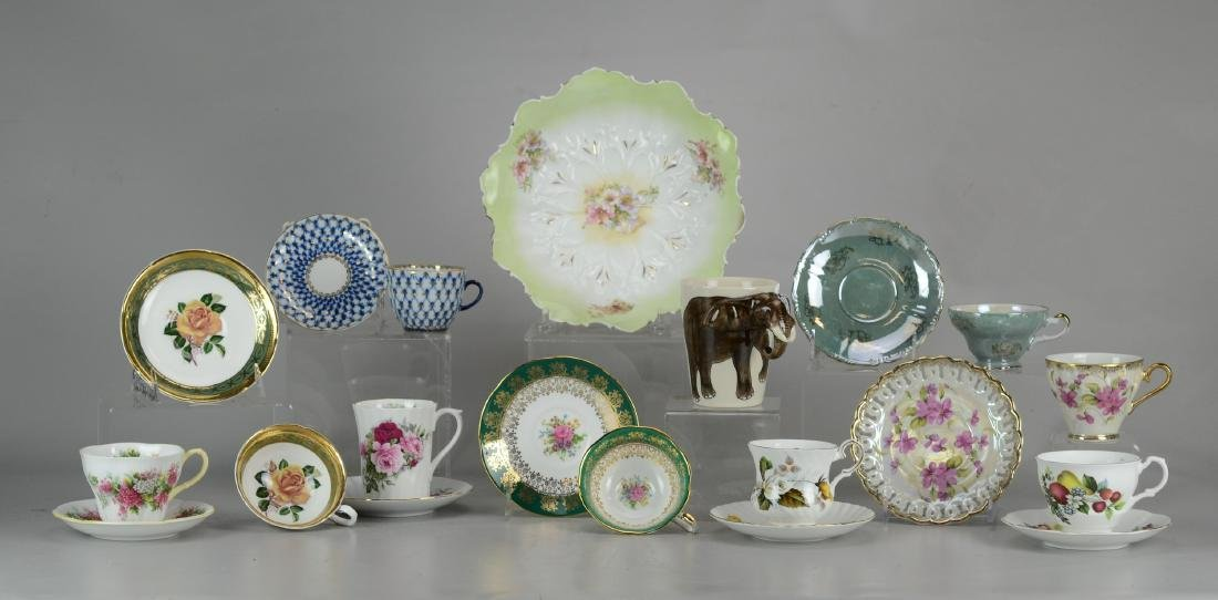 Assorted cups, saucers, bowls