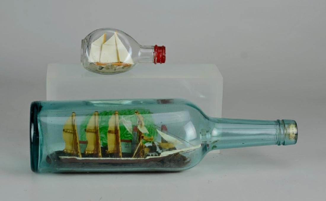 2 Ship in bottle models