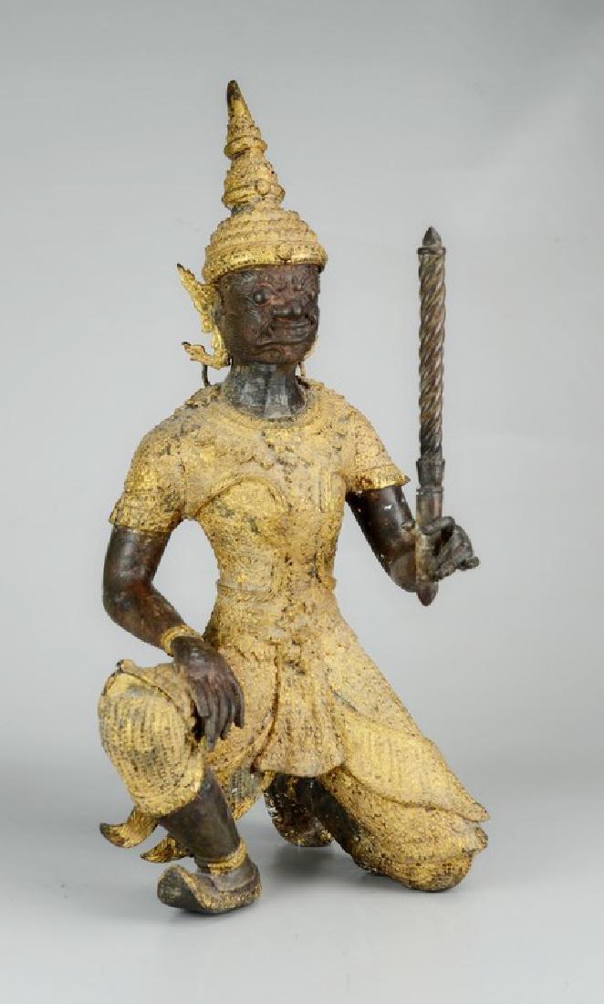 Thai gilt bronze figure