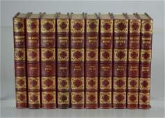 10volume set of novels by Henry Fielding Esq half