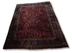 Circa 1930s 96 x 116 Persian Sarouk Carpet