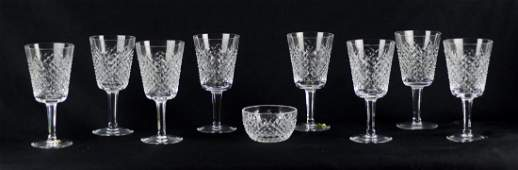 Shelf 52 9 Pcs Waterford Alana Pattern Crystal