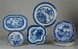 Shelf 54 7 Pcs Blue  White Porcelain