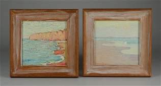 Francis Draper Pair Impressionist Seascape Paintings