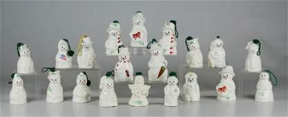 Shelf 87 (20) Belleek Porcelain Christmas Ornaments