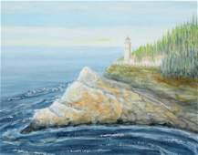 John Lear Lighthouse Painting