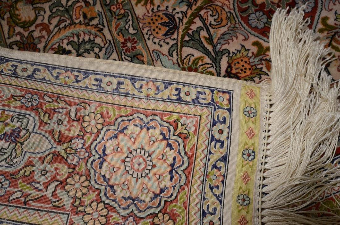 "Finely Woven Persian Silk Isphahan Rug 2'6""x3'8"" - 2"