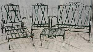 4 pc Salterini style iron patio set