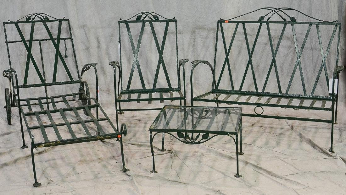 4 pc Salterini style iron patio set