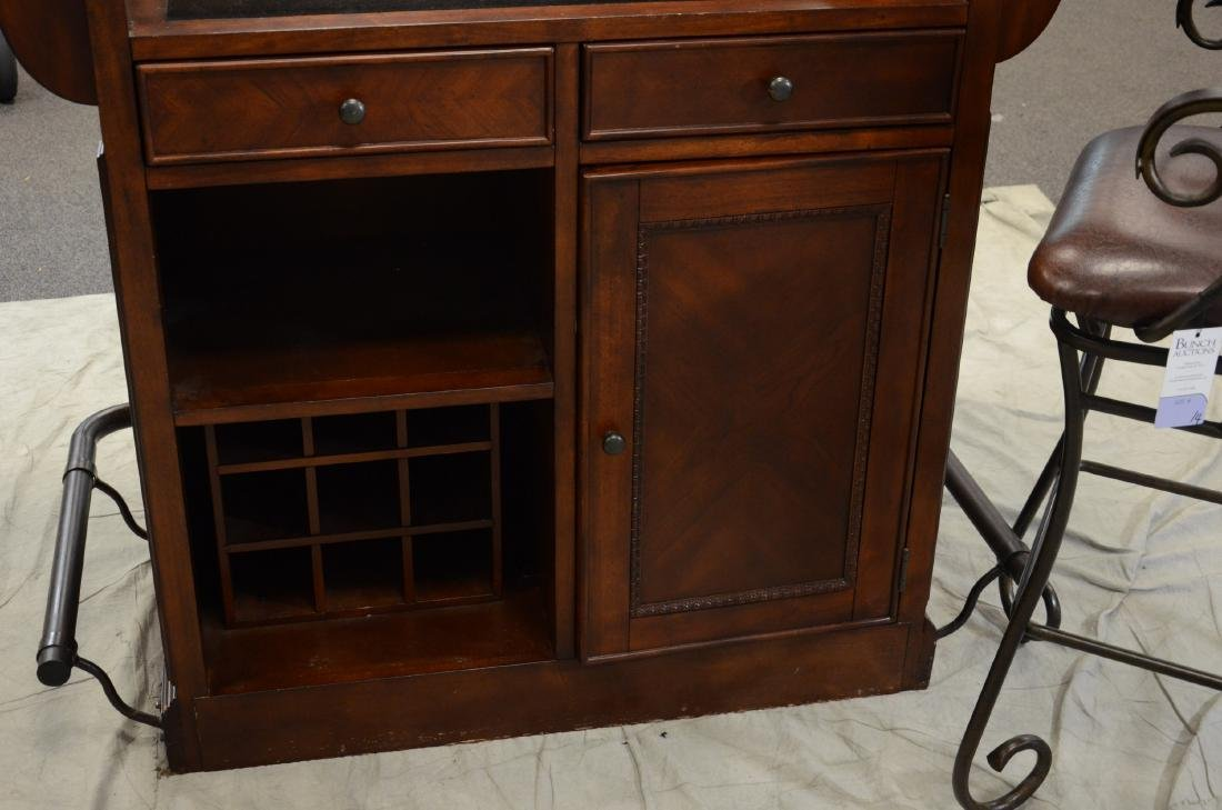 Legends Furniture granite bar w/ 3 bar stools - 2