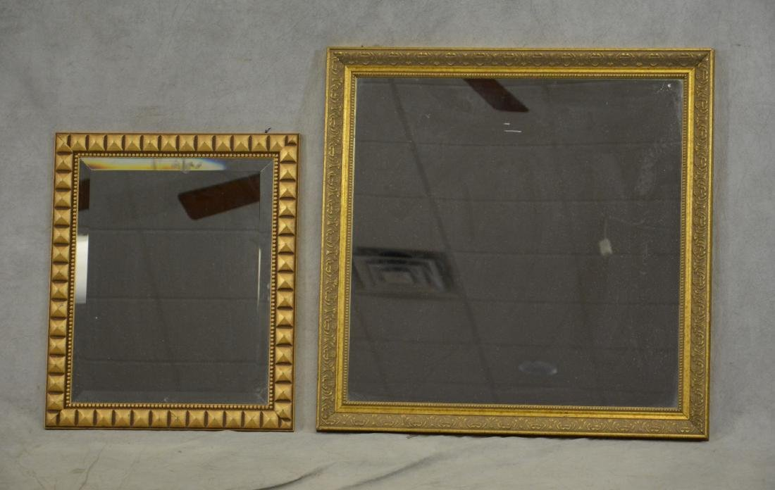 (2) gilt carved wall hanging mirrors