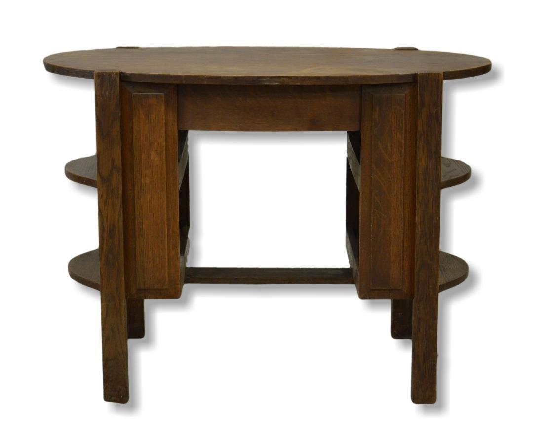 Oval Mission Oak Desk