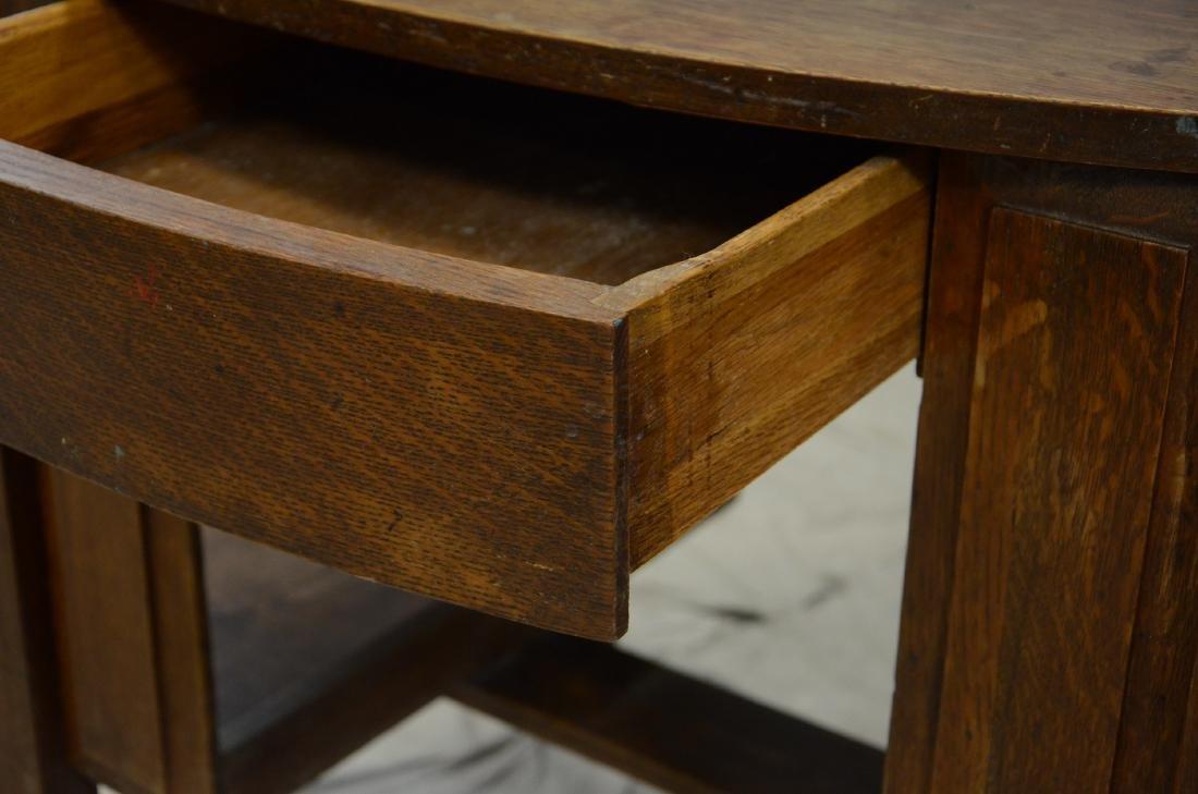 Oval Mission Oak Desk - 2