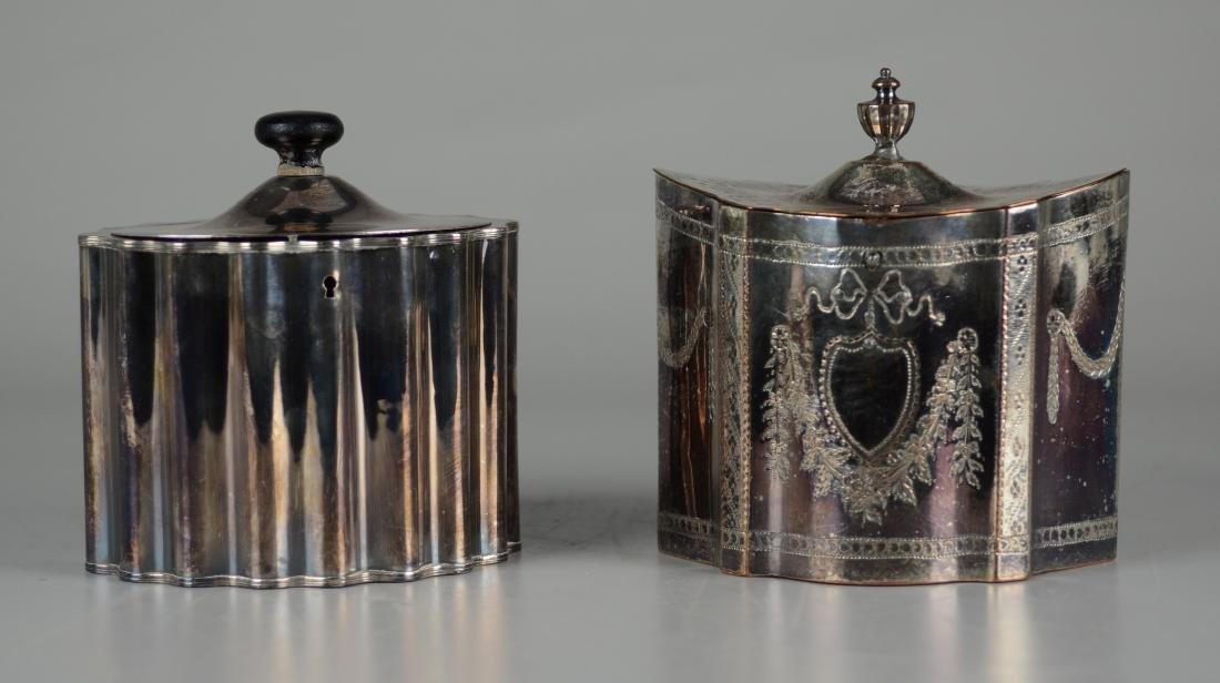 (2) Silver Plated Tea Caddys