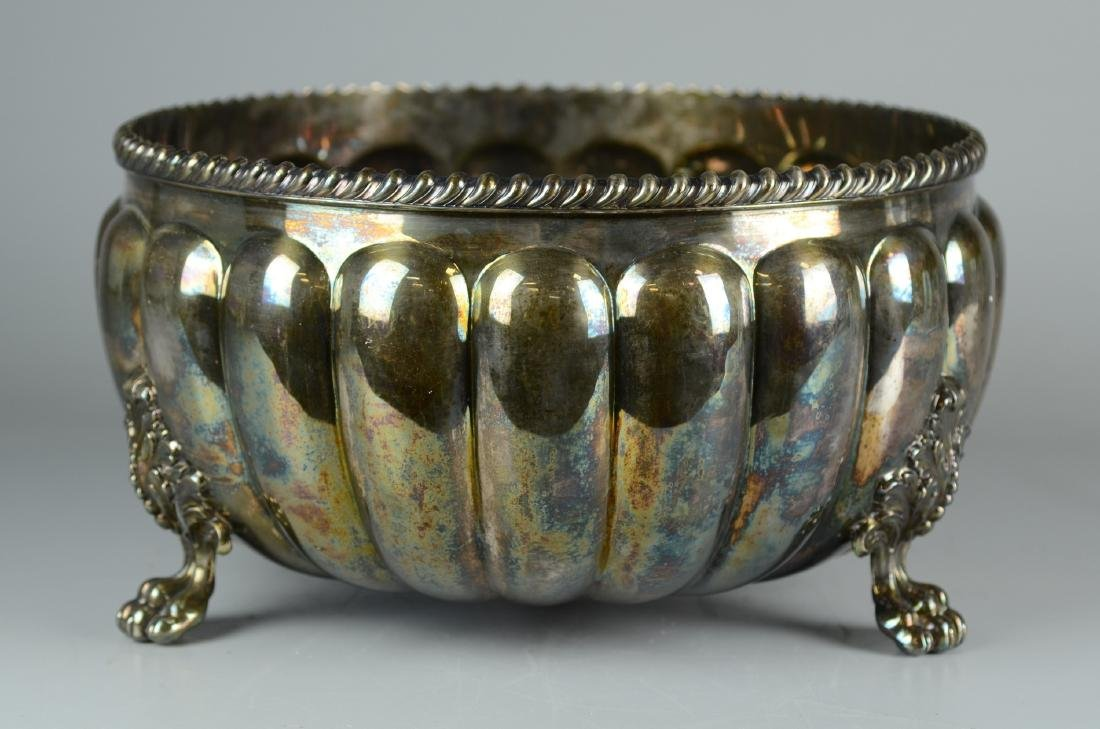 Silver Plate Footed Punch Bowl