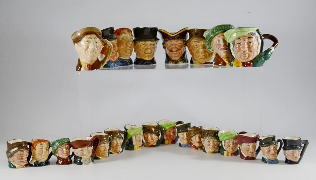 Shelf #13 - (24) Miniature Royal Doulton Toby Jugs