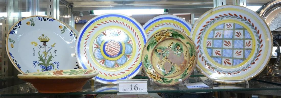Shelf Lot 16 Pottery Plates