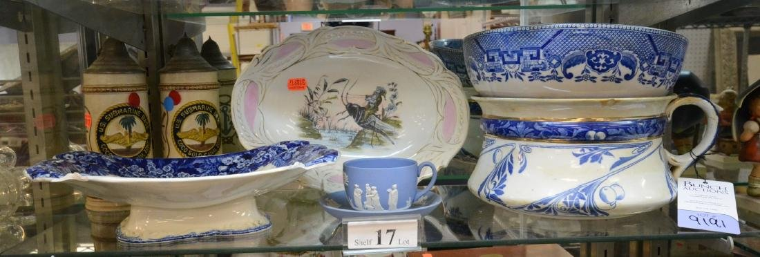 Shelf Lot 17 Porcelain Flow Blue