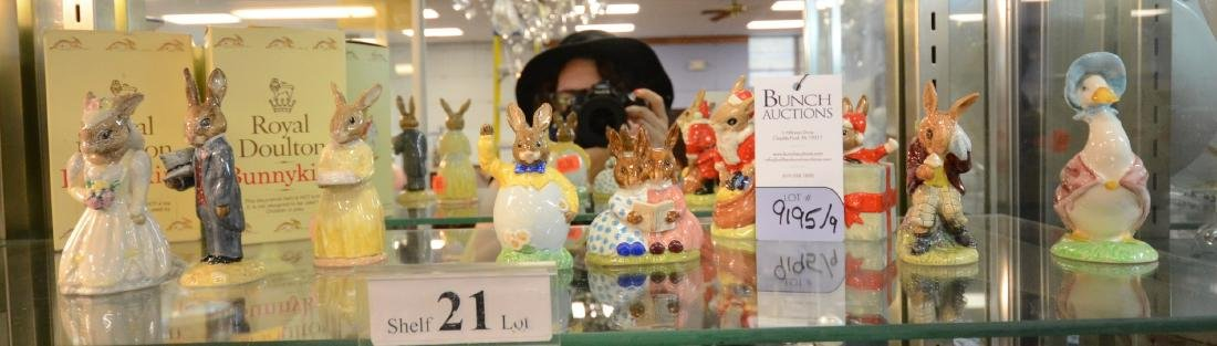 Shelf #21 - (9) Royal Doulton Bunnykins figurines