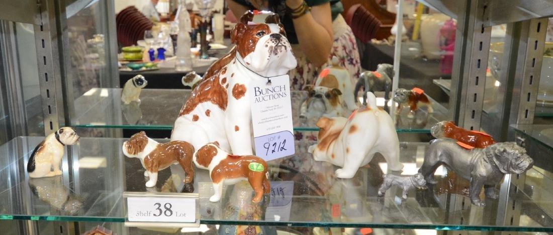 Shelf Lot  38 Porcelain Dogs