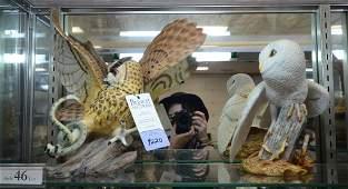 Shelf 46  2 Franklin Mint porcelain Owl figurines