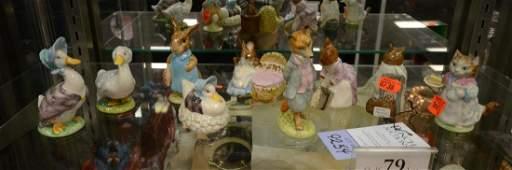 Shelf #79 - (9) Beswick Beatrix Potter figurines