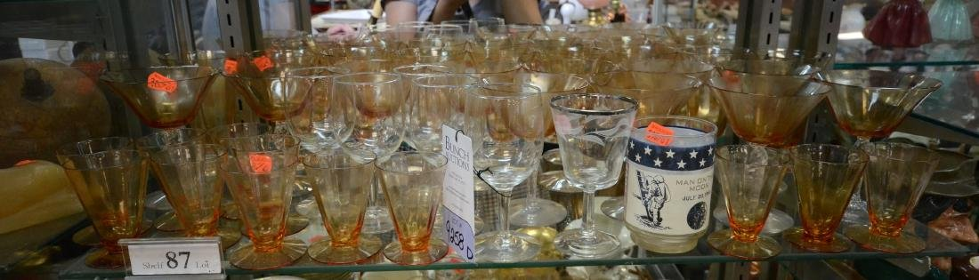 Shelf Lot 87 Cambridge glass