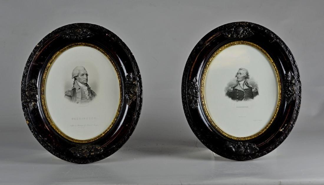 Pr Stipple Engravings of George Washington