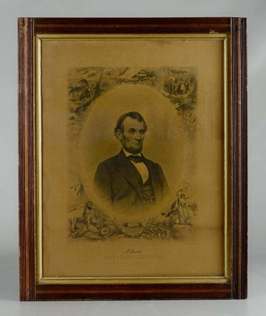 Steel Engraving of Abraham Lincoln