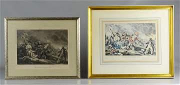 Pr prints depicting the Battle of Bunker Hill
