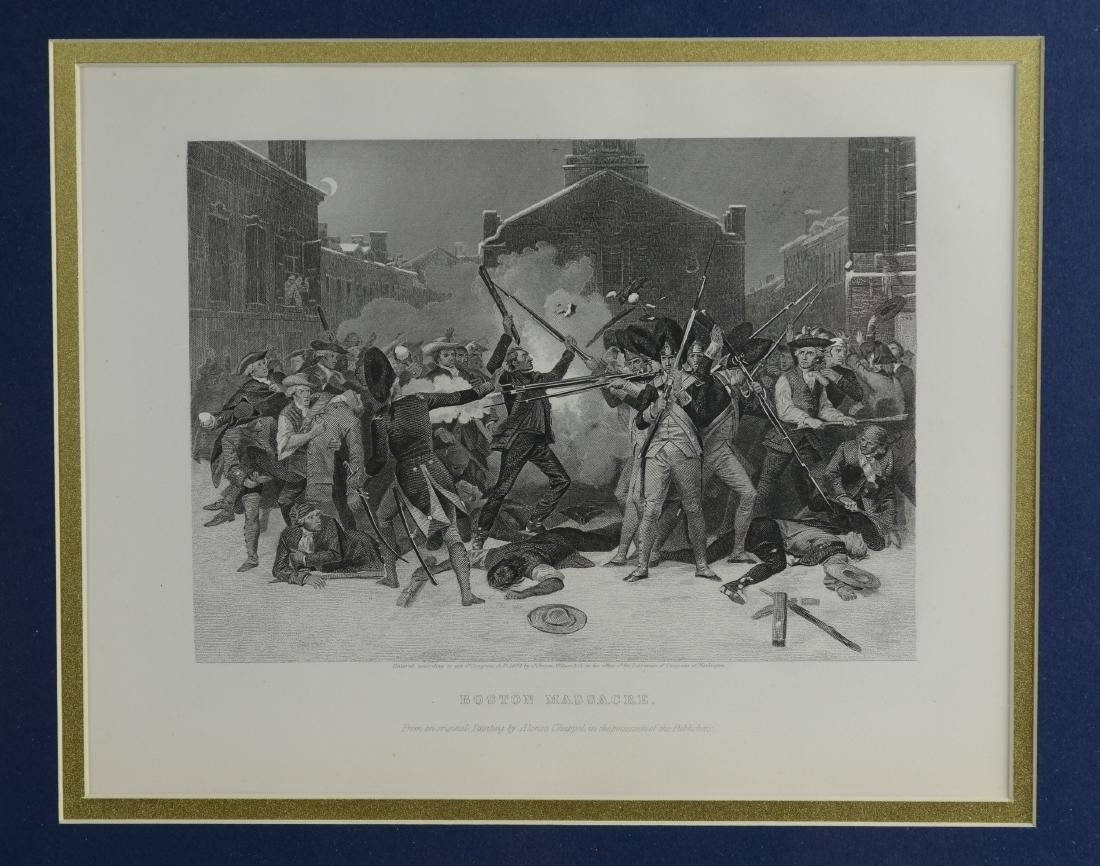 Pr Revolutionary War steel engravings - 3
