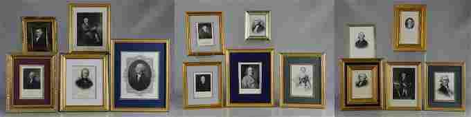 15 Political portrait engravings