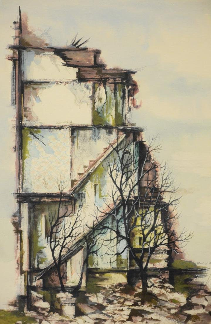 Robert Fabe, Modernist painting of a building