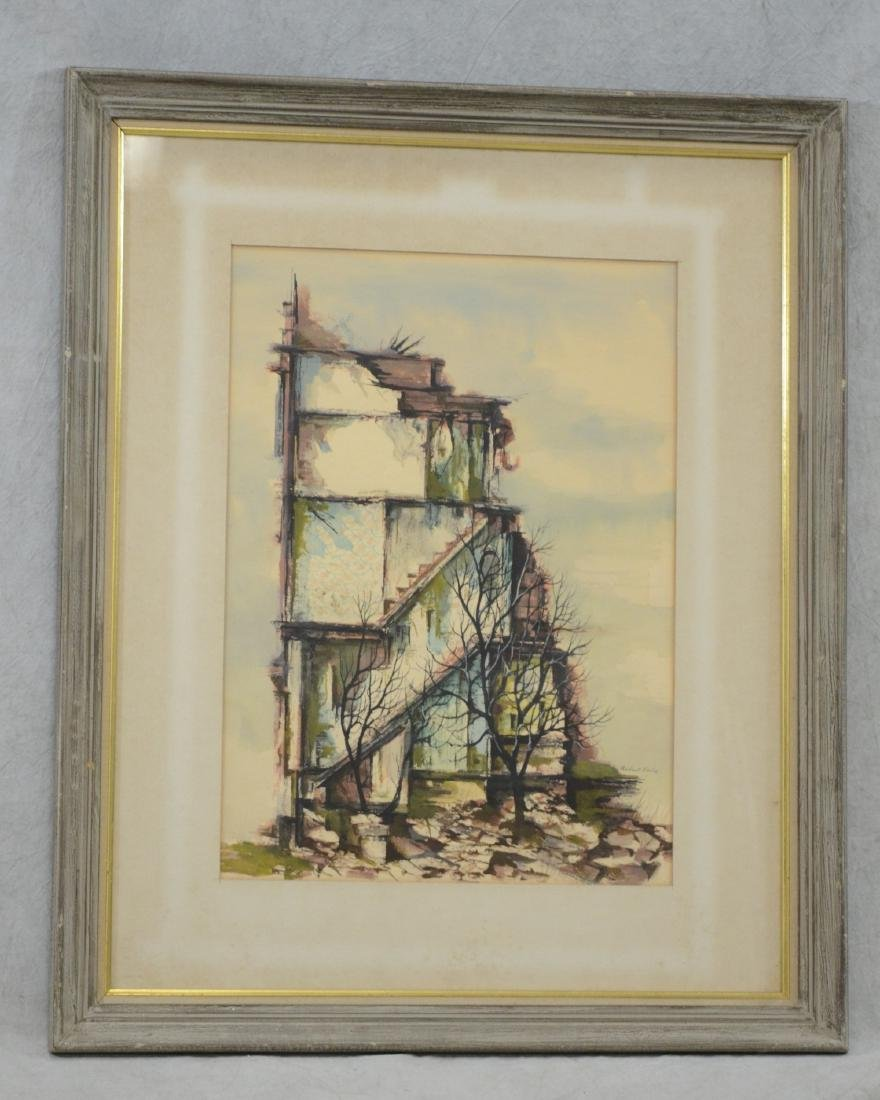 Robert Fabe, Modernist painting of a building - 2