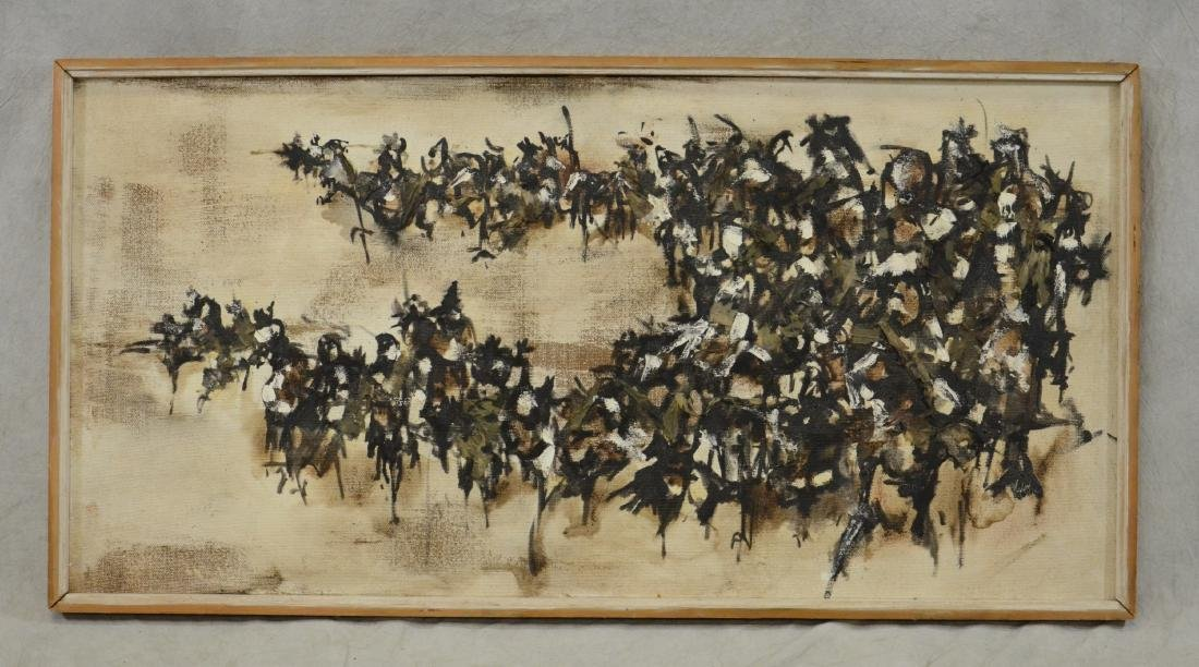 """JJ Kelly, abstract painting """"Combat III"""" - 2"""