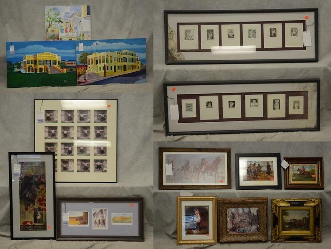 (14) Assorted artworks