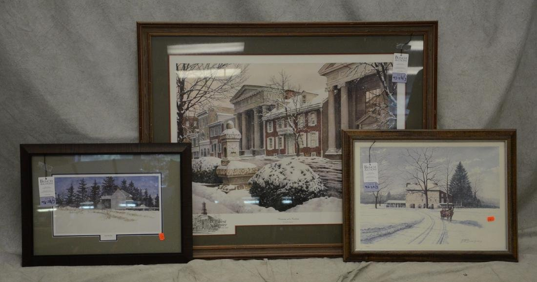 (3) Signed Chester County Prints