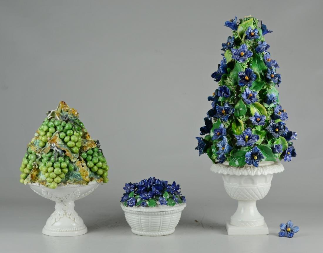 (3) Pcs Italian Porcelain