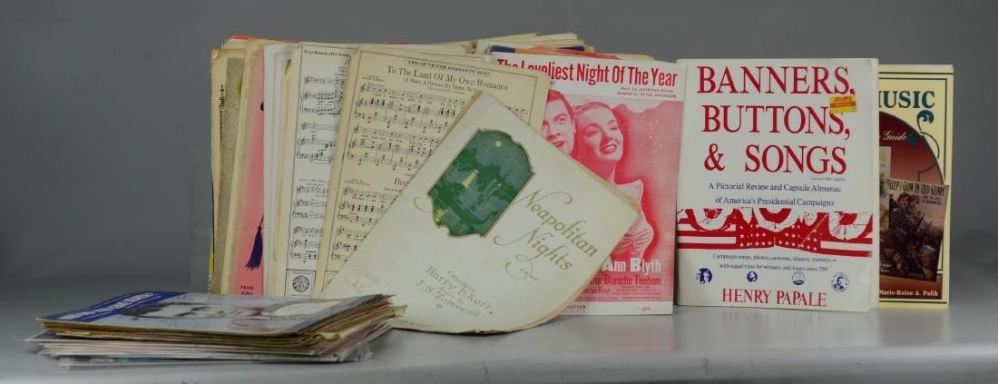 Large lot of Vintage Sheet Music
