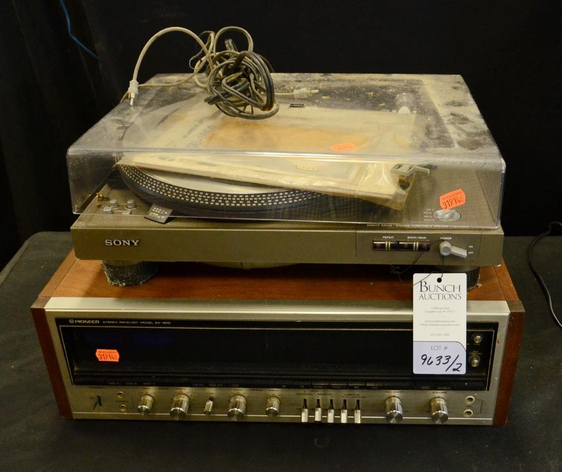 Pioneer Stereo Receiver & Sony Turntable