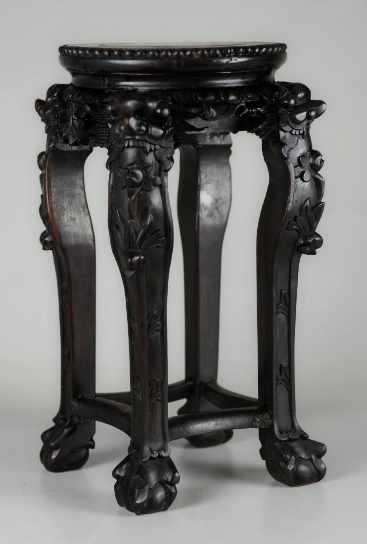 Chinese marble top tabourette