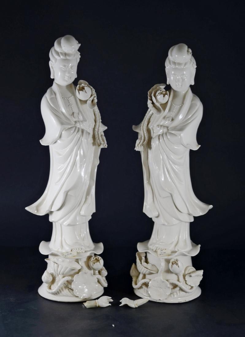 Pr Chinese porcelain blanc de chine figures