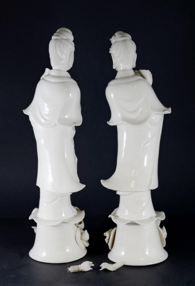 Pr Chinese porcelain blanc de chine figures - 4