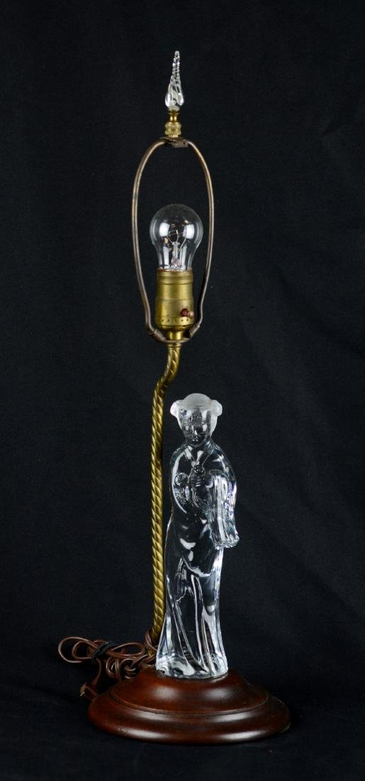Crystal Asian Style Figural Table Lamp