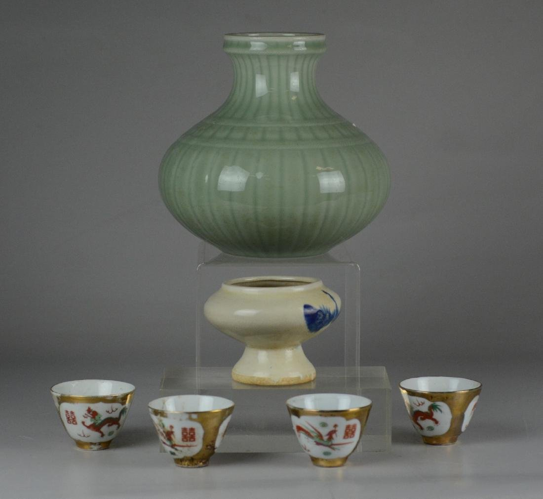 (6) Pcs. Asian Pottery