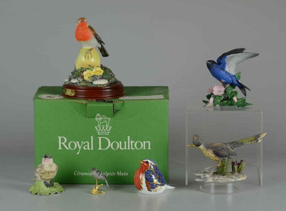 (6) Porcelain Bird Figurines
