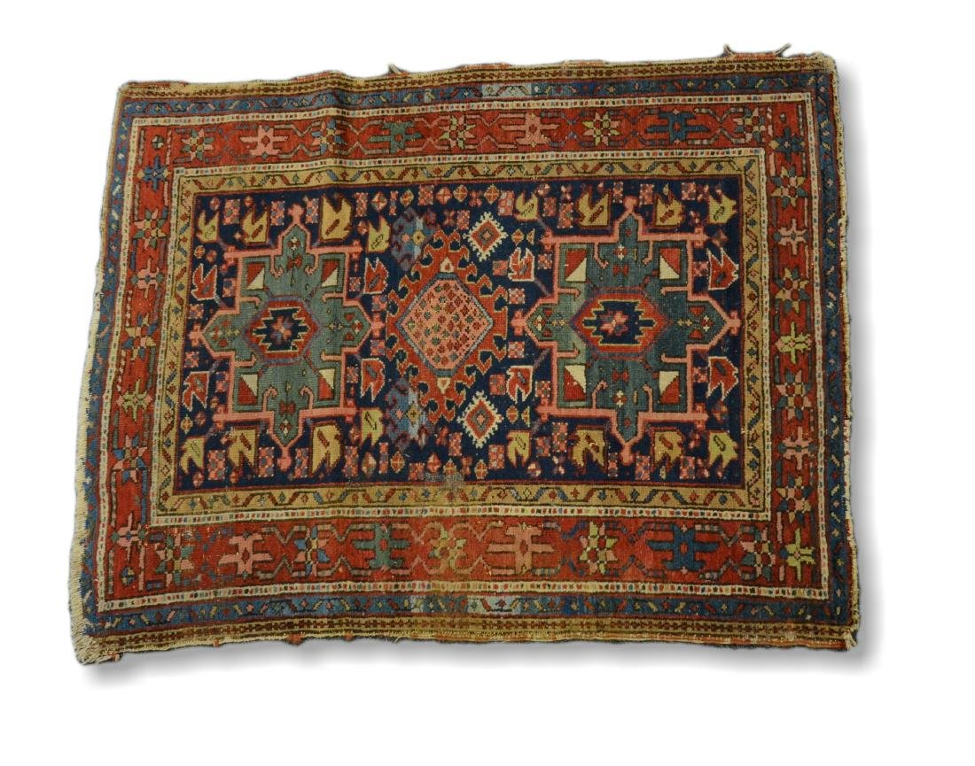 "Antique Heriz Rug, 3'6"" x 4'5"""