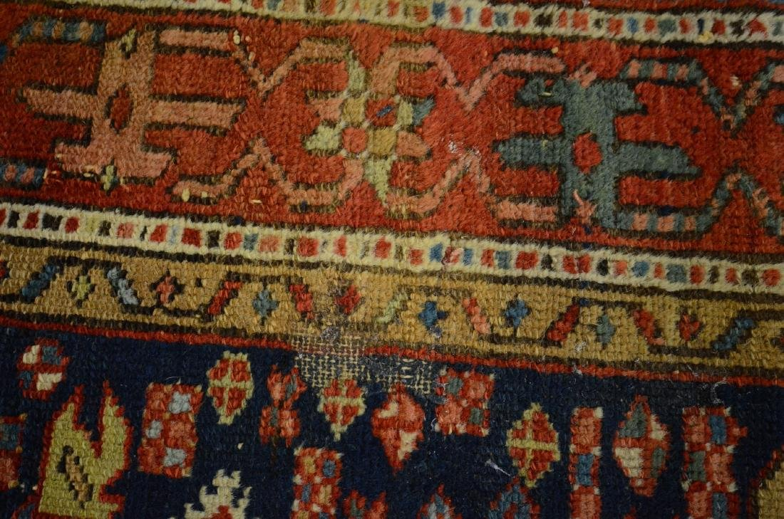 "Antique Heriz Rug, 3'6"" x 4'5"" - 2"