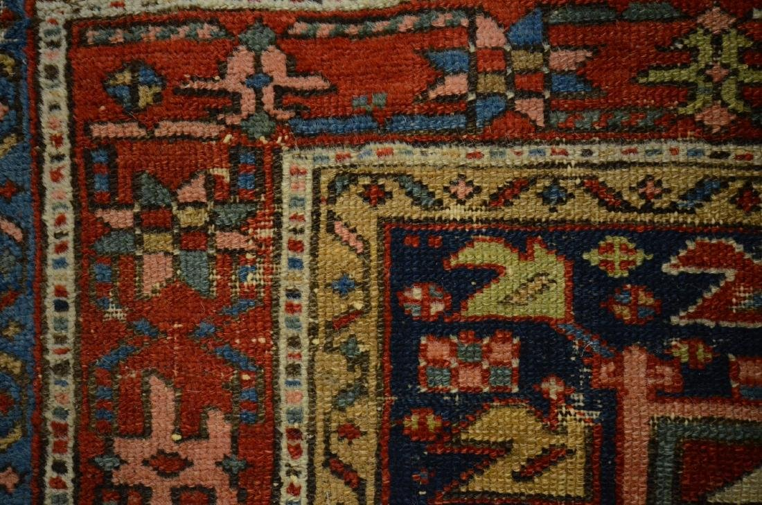 "Antique Heriz Rug, 3'6"" x 4'5"" - 3"